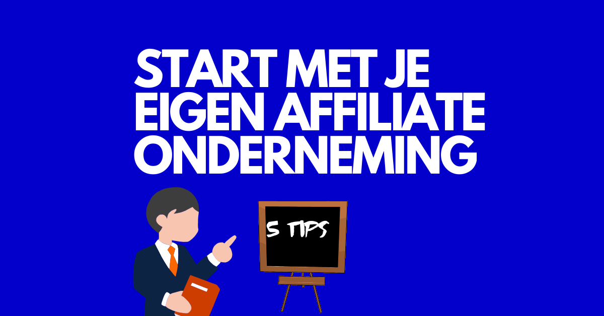 starten met affiliate marketing